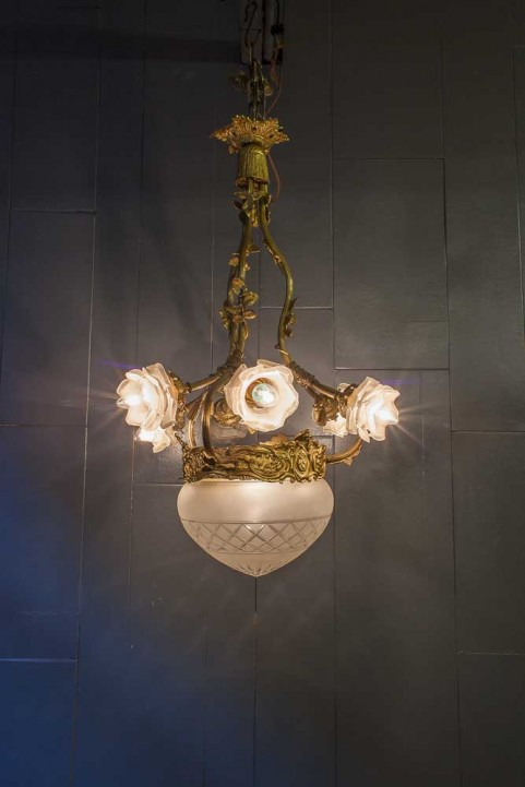 Ornate French Gilt Chandelier