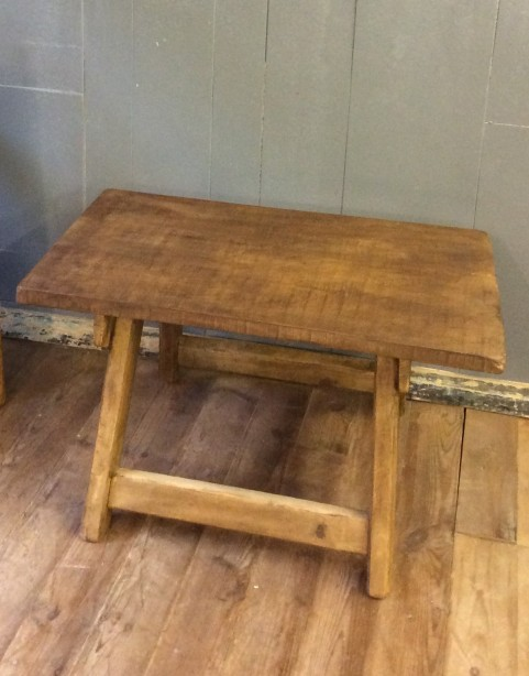 Rustic hardwood top table
