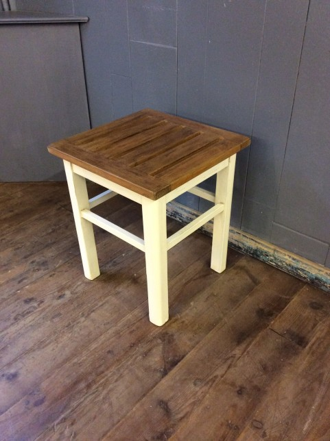 Slatted top side table