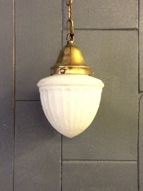 Milk glass ceiling light