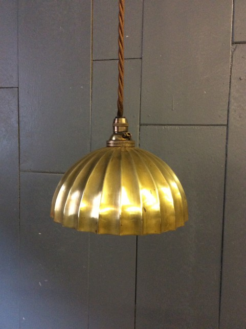 Brass small dome ceiling light