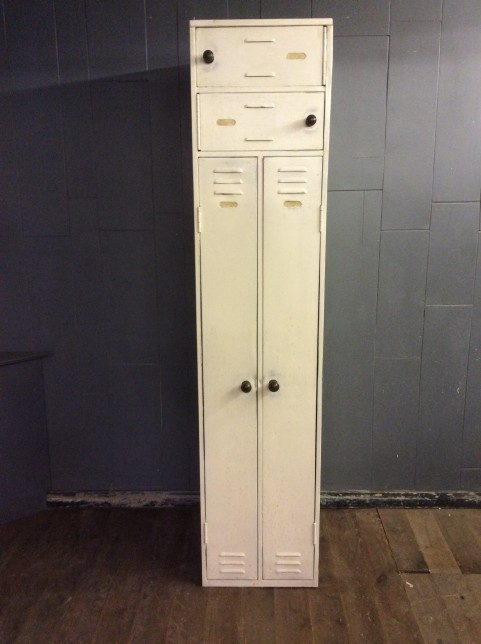Tall metal locker