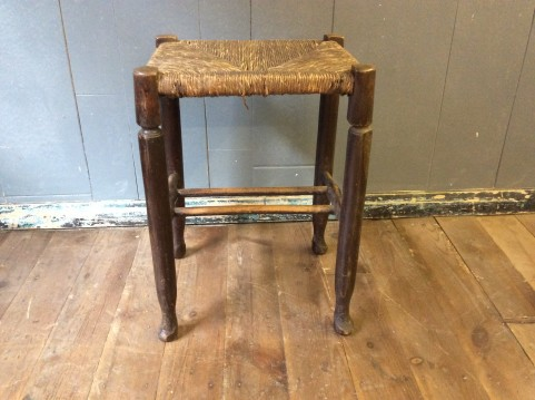 Georgian rush seat stool