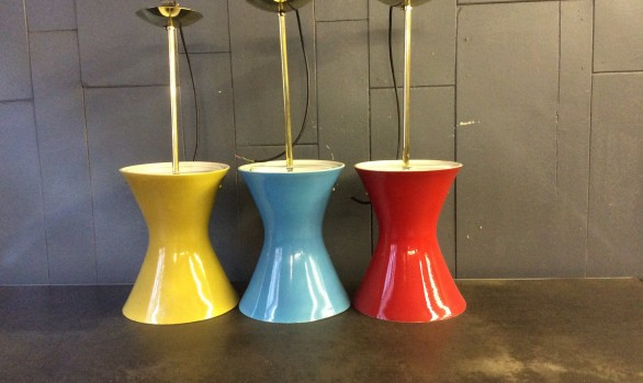 George Clews pottery ceiling lights