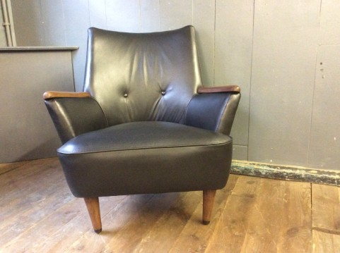 Original 60's leather armchair
