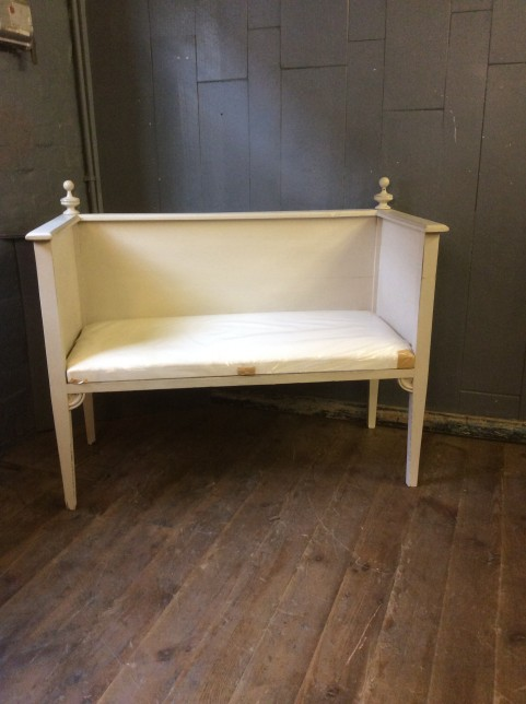 Painted bench seat