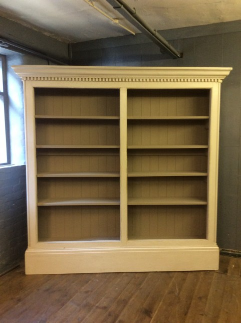 Large painted bookcase