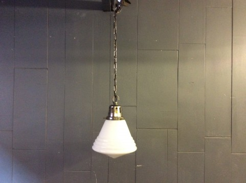 1930's school globe ceiling light