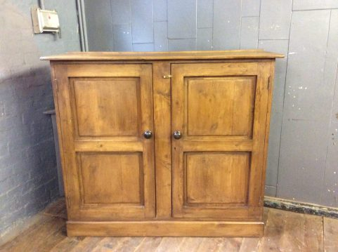 Pine two door cupboard