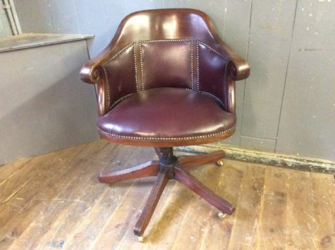 Leather Swivel Desk Chair
