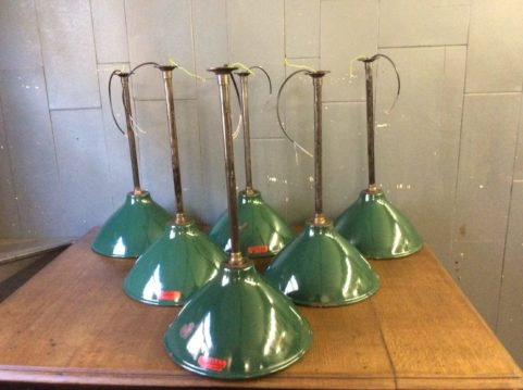 Green Enamel Coolie Lights