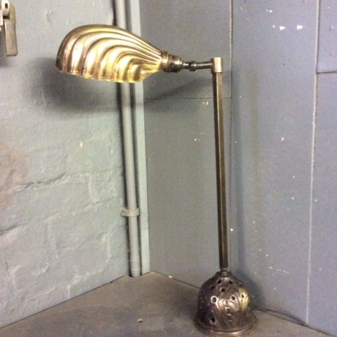 Brass  Shell Shade Table Lamp