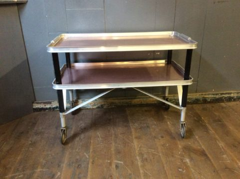 1950's Wheeled Coffee Table