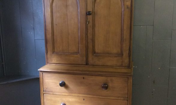 Pine housekeeper cupboard