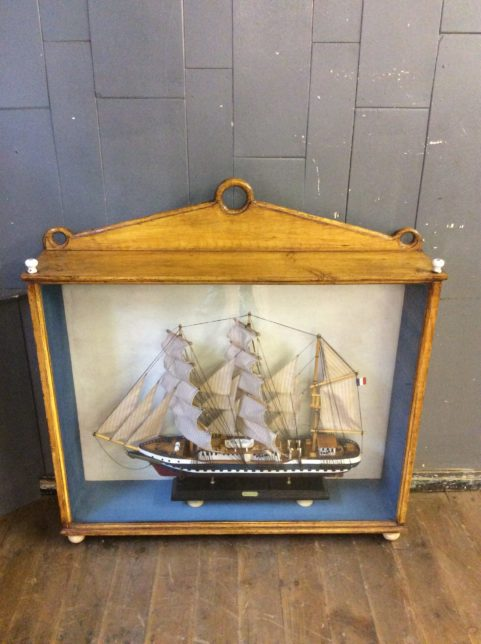 Victorian cased ship model