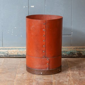 Antique Leather Waste Bin