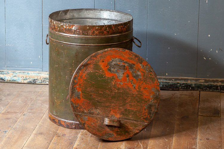 Large Tin Flour Bin with Lid