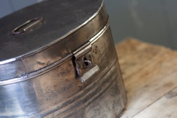 Polished Steel Hat Box Detail