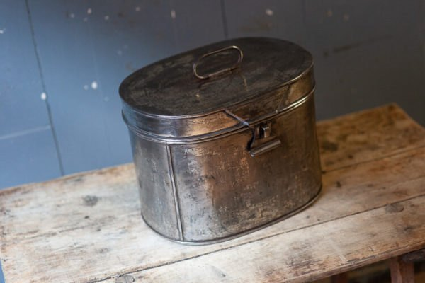 Polished Steel Hat Box Odeon