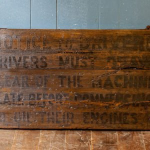Reclaimed Wooden Railway Sign