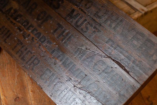Reclaimed Wooden Railway Sign Detail