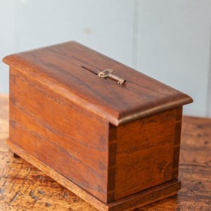 Victorian Dovetail Money Box with Key