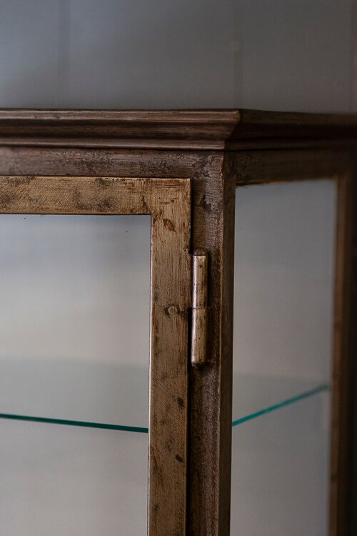 Antique Glass Shelving Cabinet Hinge