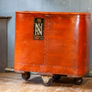 Antique Wheeled Mill Bin