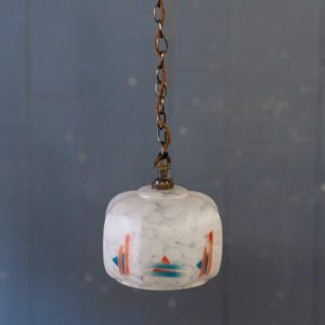 Art Deco Glass Suspension Light