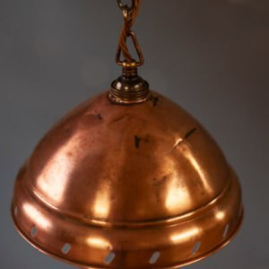 Domed Copper Ceiling Light Detail