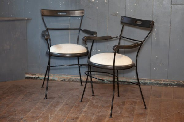 French Mid Century Café Chairs