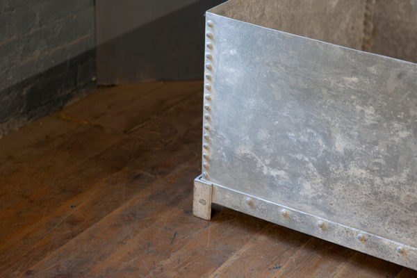 Large Galvanised Planter Sturdy