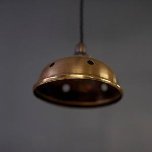 Mini Brass Pendant Light Inside