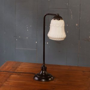 Moulded Milk Glass Table Lamp