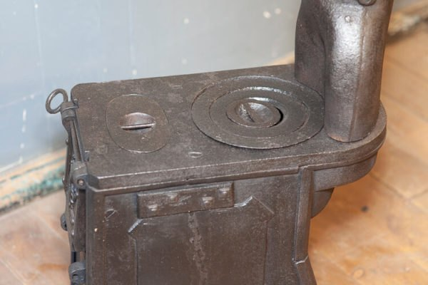 Old Wood Burning Stove Black