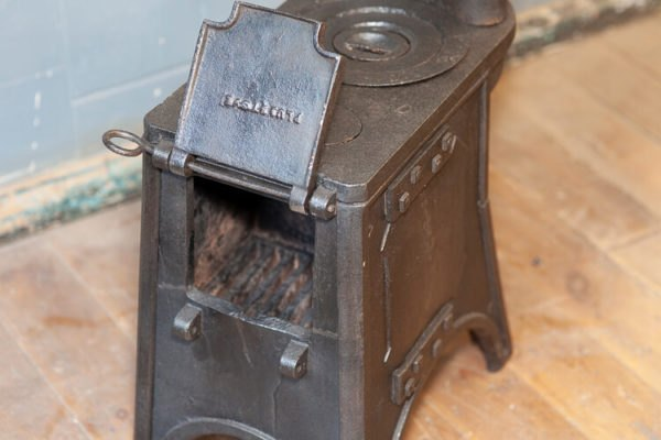 Old Wood Burning Stove Heating