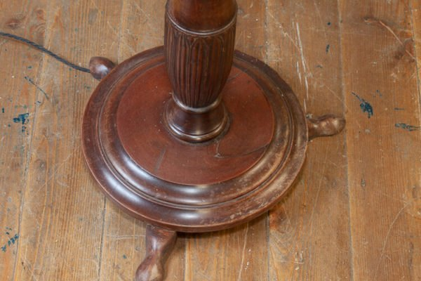 Reeded Mahogany Standard Lamp Base
