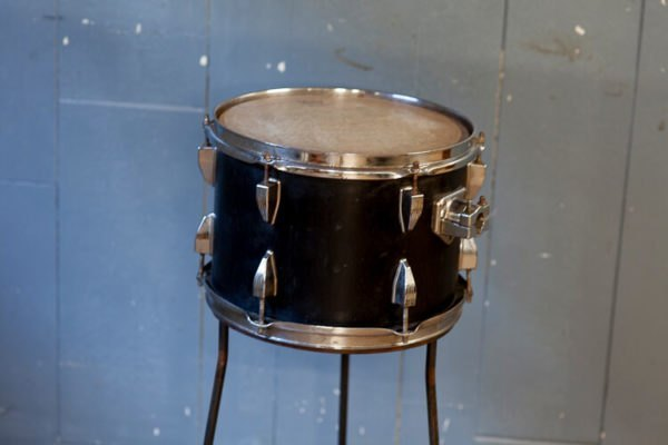 Repurposed Drum Table on Stand