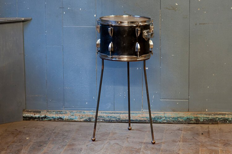 Repurposed Drum Table