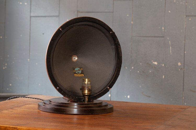 Upcycled Vintage Speaker Table Light 1930s