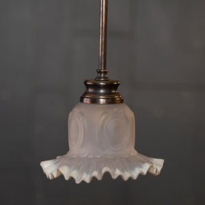 Victorian Brown Tinged Glass Pendant
